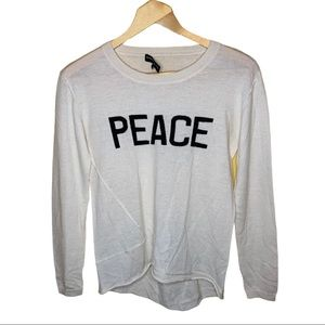 Generation Love Graphic Cashmere Sweater Size XS